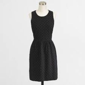 J Crew ponte dress in velvet dot navy blue XS